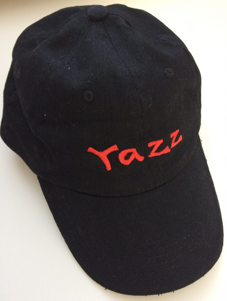 Watersport, caps with boat name, by ZijHaven3, borduurstudio Lemmer