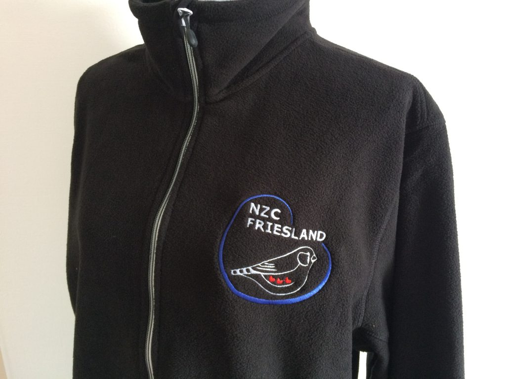 Association gear, unisex fleece with association logo, by ZijHaven3, borduurstudio Lemmer