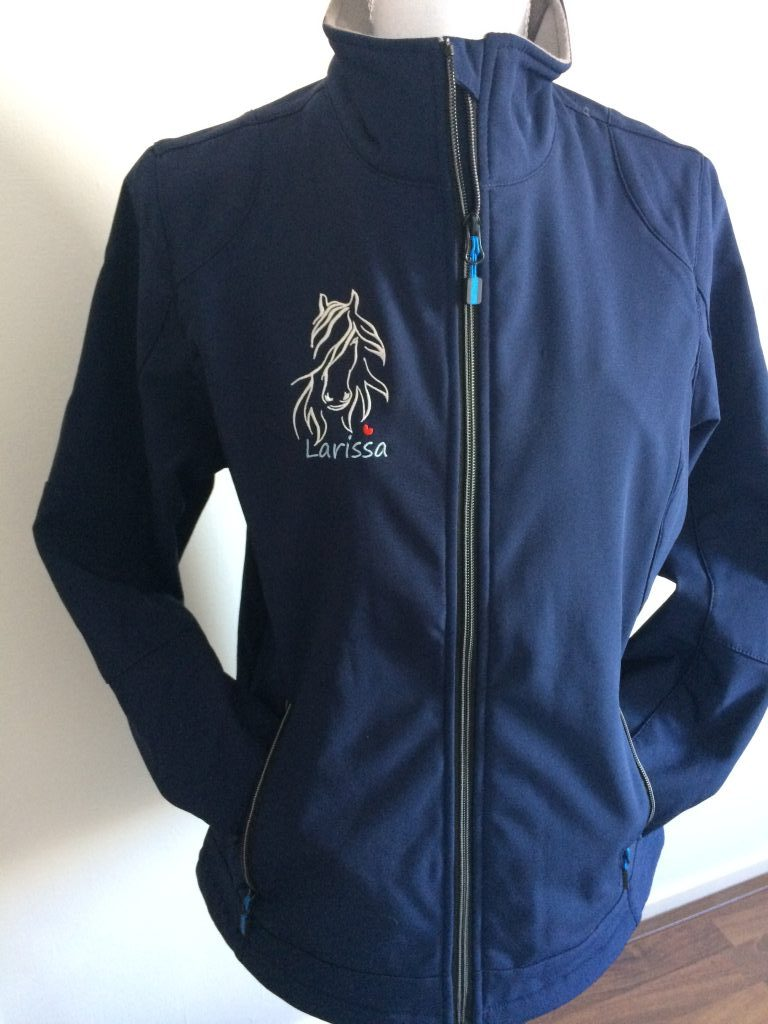 Equestrian sports, Softshells ,personalised with horses name , by ZijHaven3, borduurstudio Lemmer