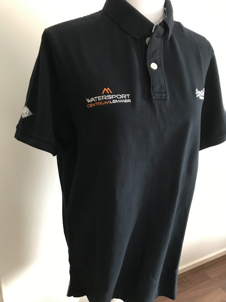 Company gear, with chest logo Watersport Centrum Lemmer, by ZijHaven3, borduurstudio Lemmer