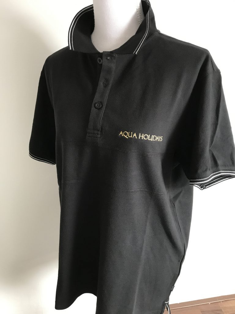 Company gear, Aqua Holidays polo, by ZijHaven3, borduurstudio Lemmer