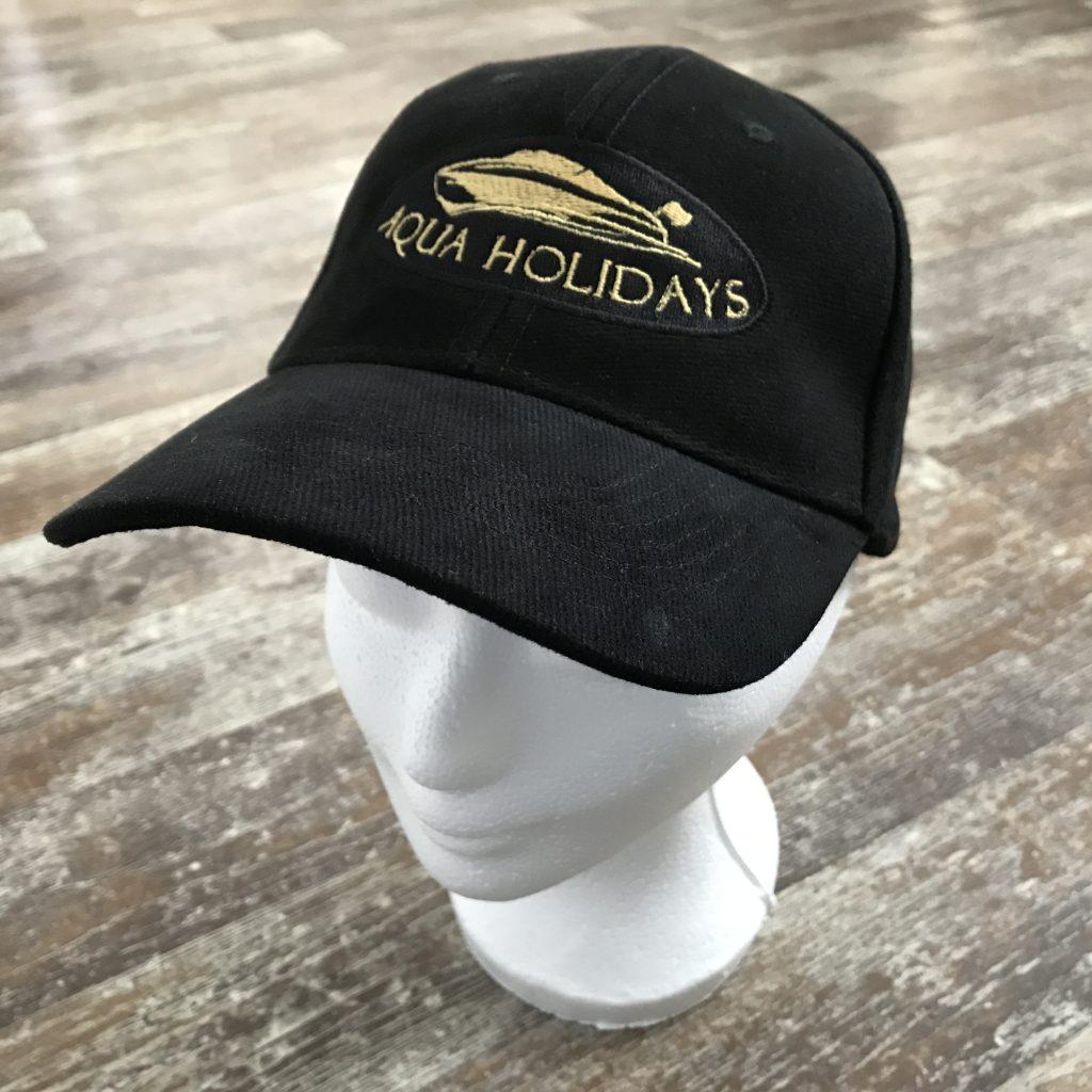 Company gear, Aqua Holidays cap, by ZijHaven3, borduurstudio Lemmer