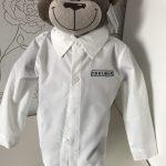 Cadeau idee, kinder overhemd met beer, door ZijHaven3, borduurstudio Lemmer