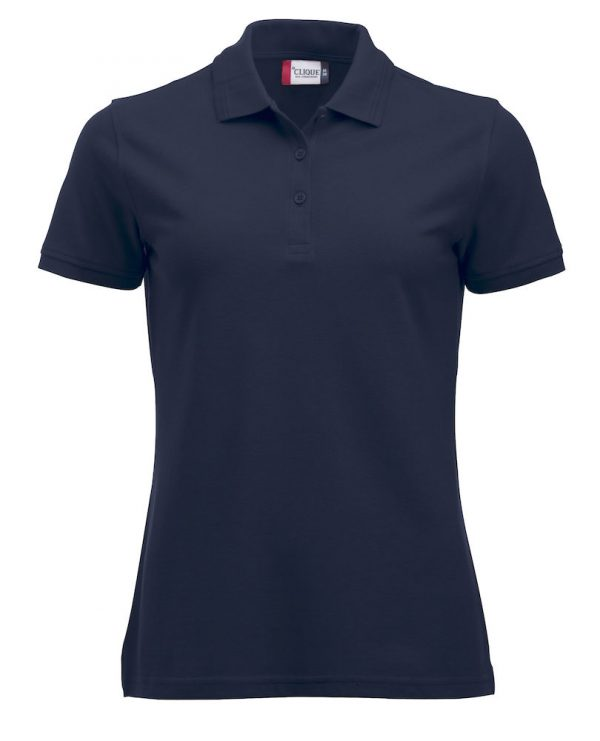 Ladies polo, dark navy, Frisian Horses / Friesian Horses, from ZijHaven3, borduurstudio Lemmer