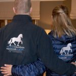 Paardensport, Voorbeeld fleece en damesjack met logo Friese Paarden / Friesian Horses, van ZijHaven3,bordurrstudio Lemmer