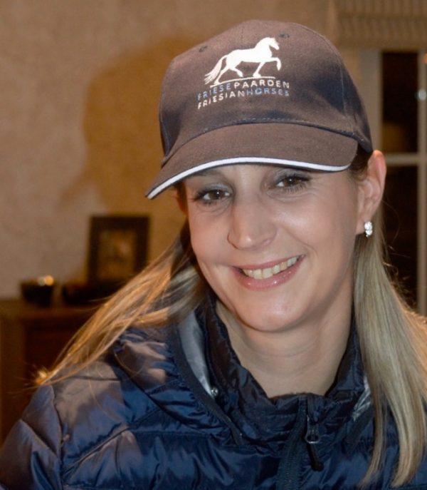 Equestrian sport, Example cap with logo of Friesian Horses / Friesian Horses, from ZijHaven3, borduurstudio Lemmer