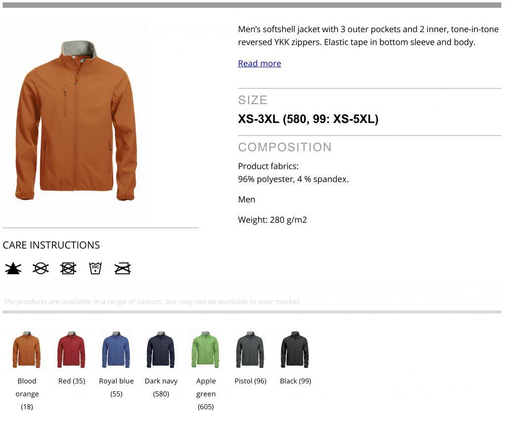 Info Basic Softshell Jacket