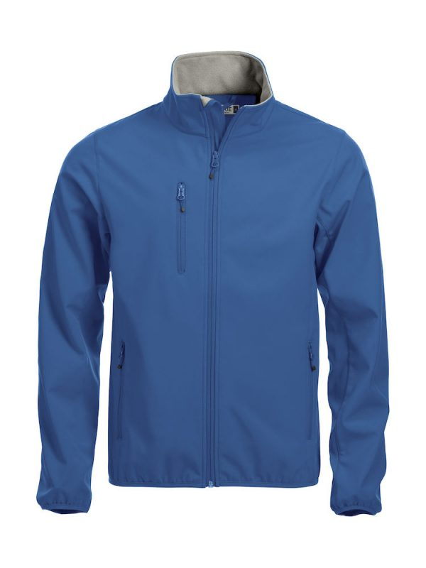 Softshell Jacket, cobalt blue, with the logo Fries Paarden / Friesian Horses, by ZijHaven3, borduurstudio Lemmer