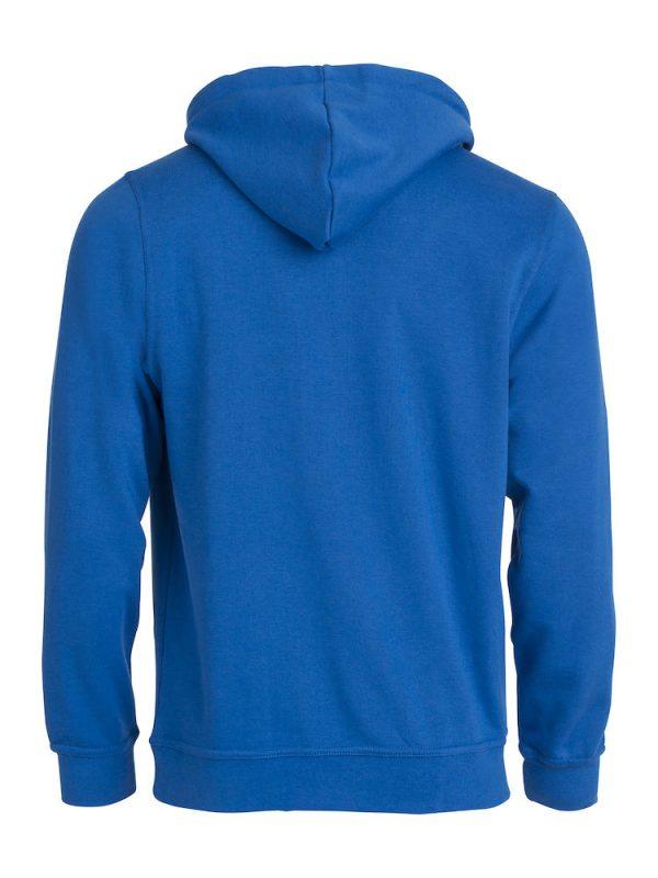 Hoody kobalt blauw, met logo Friese Paarden / Fresian Horses door ZijHaven3, borduurstudio Lemmer