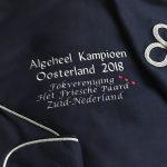 Equestrian sports, horses blanket, breeding society Het Friesche Paard Zuid Nederland, by ZijHaven3, borduurstudio Lemmer
