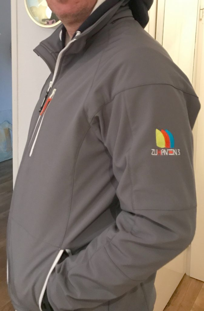 Custom made softshell, door ZijHaven3, borduurstudio Lemmer