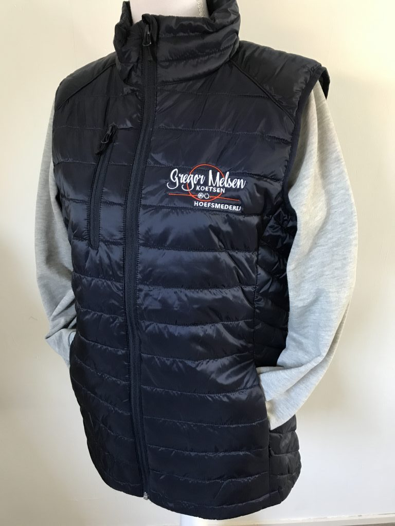 Company gear, vest with company logo, by ZijHaven3, borduurstudio Lemmer