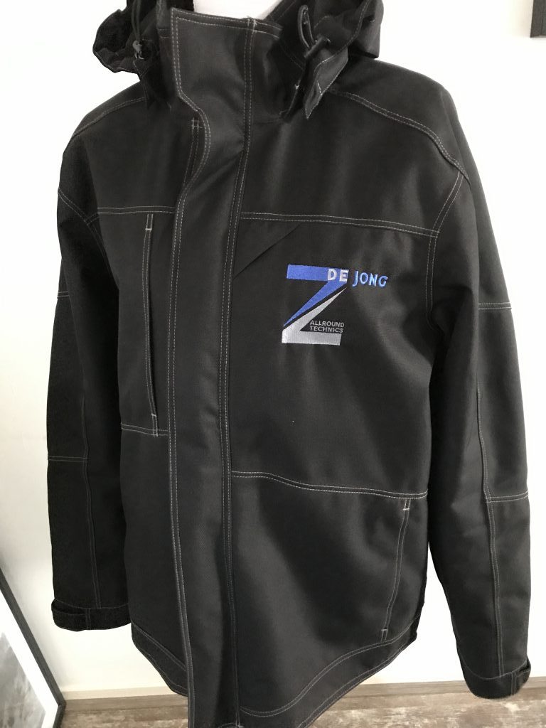 Company gear, jacket with company logo, by ZijHaven3, borduurstudio Lemmer