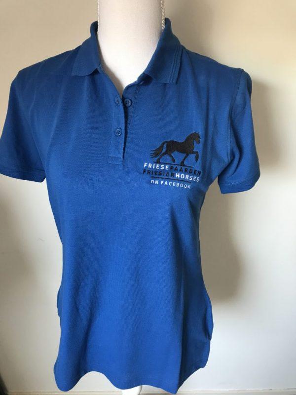 Official Vlogger shirt Facebook group Friese Paarden/ Frisian Horses, by ZijHaven3, borduurstudio Lemmer