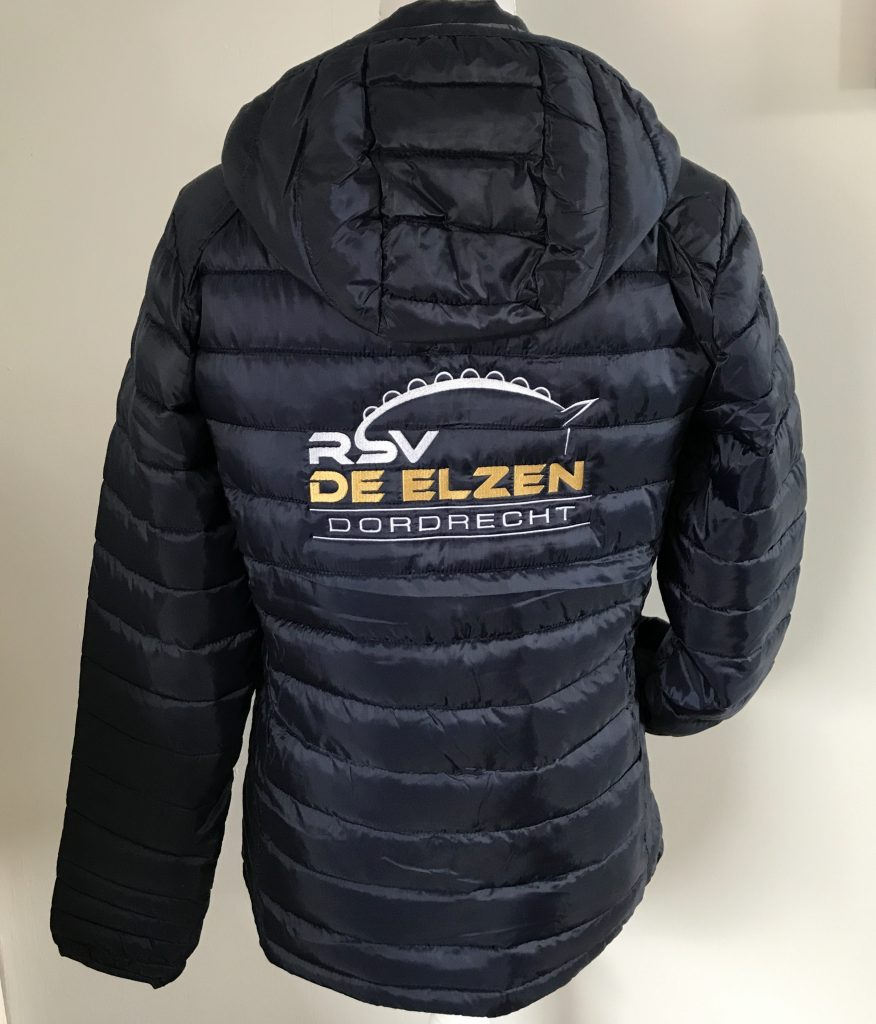 Company gear, padded jacket with company name, by ZijHaven3, borduurstudio Lemmer