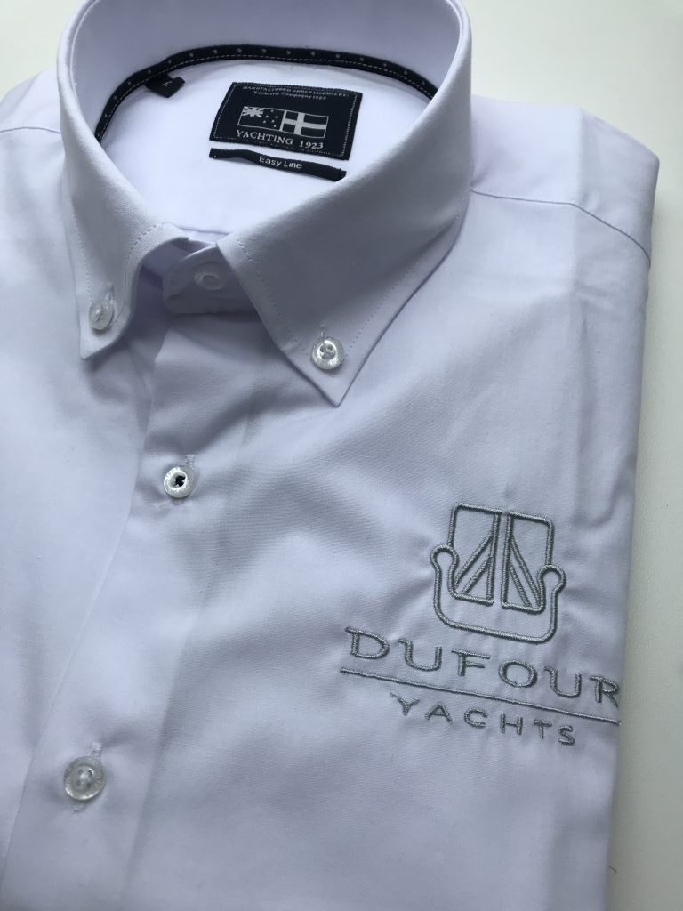 Company gear, shirt with company logo, by ZijHaven3, borduurstudio Lemmer