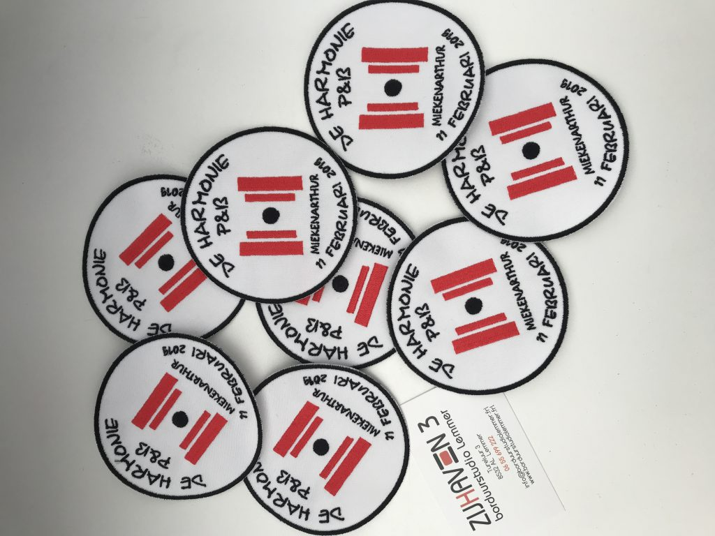 Patches met logo, door ZIjHaven 3 borduurstudio Lemmer
