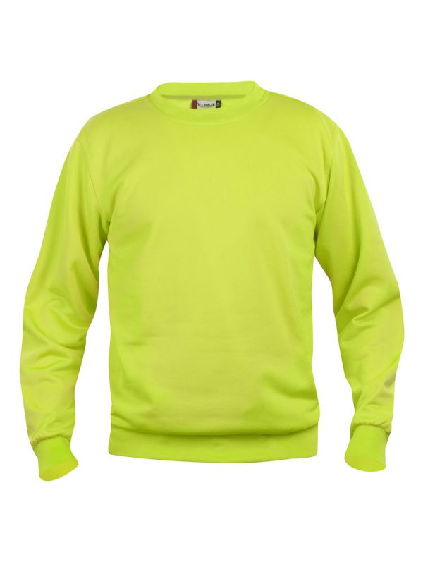 Sweater signaal groen met logo Friese Paarden / Fresian Horses door ZijHaven3, borduurstudio Lemmer