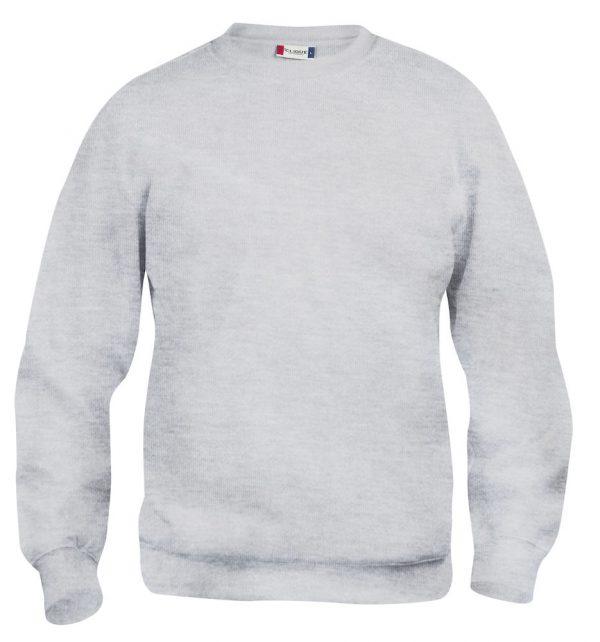 Sweater as grijs met logo Friese Paarden / Fresian Horses door ZijHaven3, borduurstudio Lemmer
