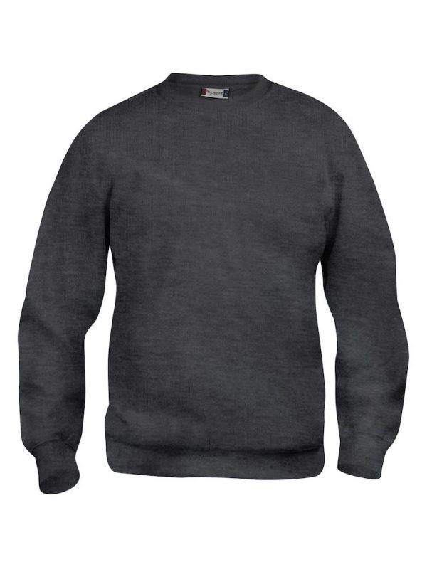 Sweater antraciet grijs met logo Friese Paarden / Fresian Horses door ZijHaven3, borduurstudio Lemmer