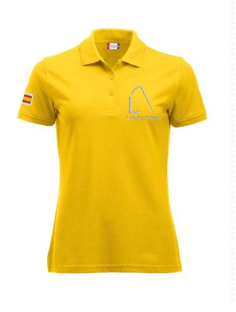 Dames polo, geel, met logo Lemster Skûtsje, door ZijHaven3 borduurstudio Lemmer
